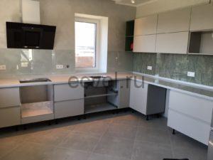 Кухня из акрилового камня Staron VP410 White Pepper в Тюмени